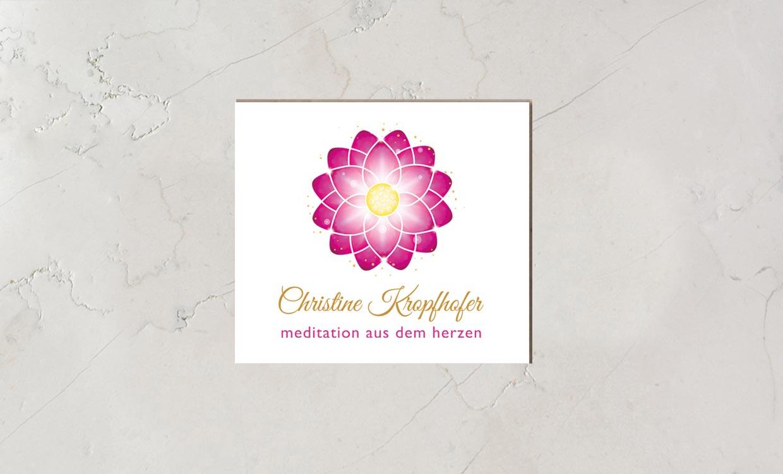 Christine Kropfhofer Logo - Meditation aus dem Herzen